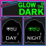EAT SLEEP LOVE BADGERS FUNNY ADULTS & CHILDRENS GLOW IN THE DARK HOODIE HOODY